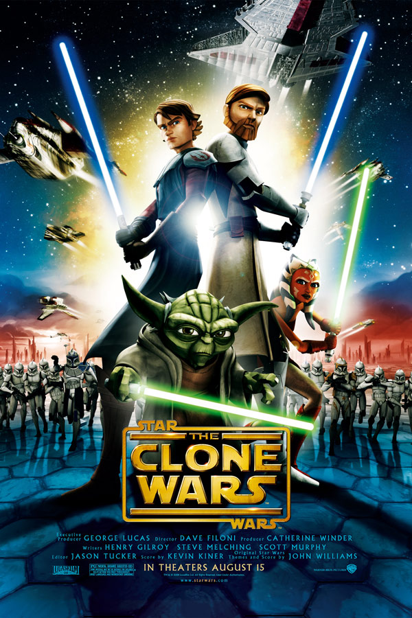 The Clone Wars Gold Logo